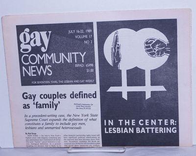 Boston: GCN Collective, 1989. Newspaper. 16p., folded tabloid newspaper on newsprint, news, opinion,...