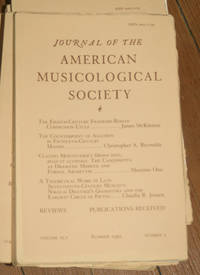 Journal of the American Musicological Society. Volume XLV Summer 1992, Number 2