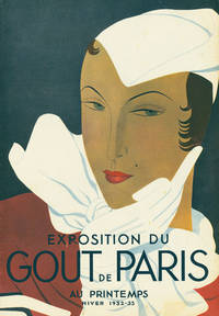 "Exhibition du Gout de Paris"" sales brochure for the Paris store Au Printemps, with printed cover in colors by Luza"