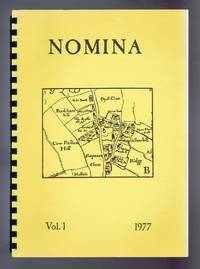 Nomina. Vol. 1 - 1977, A newsletter of name studies relating to Great Britain and Ireland
