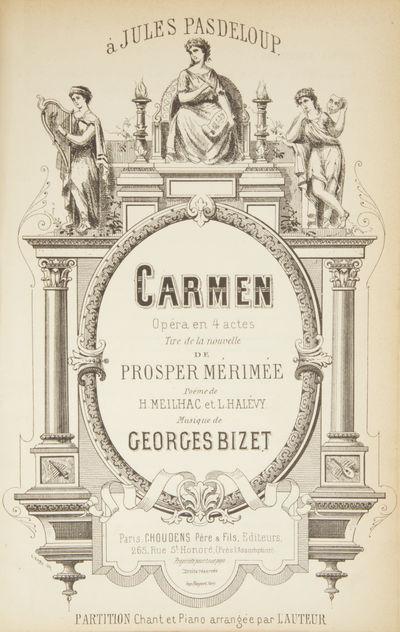 Paris: Choudens Père & Fils , 1875. Large octavo. Quarter dark red morocco with textured dark red p...