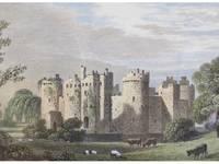 1825 Engraving, Bodyham [Bodiam] Castle, Sussex [England]