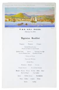 VEGETARIAN BREAKFAST.; P. & O. R.M.S. Maloja - February 3rd, 1935