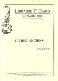 Catalogue 94/n.d. : Histoire, Erudition, Religion, Collection La Pléiade,  Nord De La France.