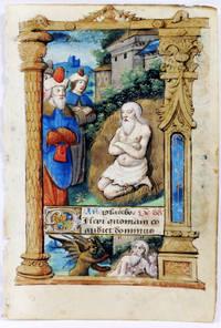Illuminated Manuscript: Leaf with Miniature Depicting Job