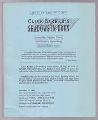 Clive Barker's Shadows in Eden (Advance Review Copy)