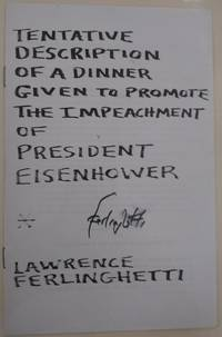 Tentative Description of a Dinner Given to Promote the Impeachment of President Eisenhower