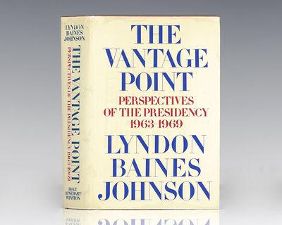 New York: Holt Rinehart and Winston, 1971. First edition of President Johnson's autobiography. Octav...