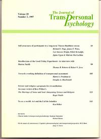 The Journal of Transpersonal Psychology Volume 29 Number 2, 1997