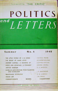 Politics and Letters: Volume 1, Number 4: Summer 1948