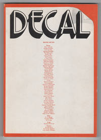 Decal Poetry Review 1 (1972)