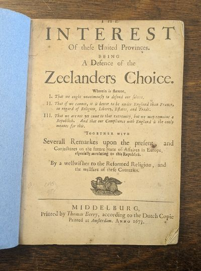 Middleburg: : Printed by Thomas Berry, according to the Dutch Copie, 1673 First edition of the Engli...