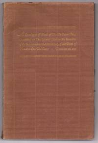 image of Catalogue of Work of The De Vinne Press Exhibited at The Grolier Club on the Occasion of the One Hundredth Anniversary of the Birth of Theodore Low De Vinne December 25, 1928