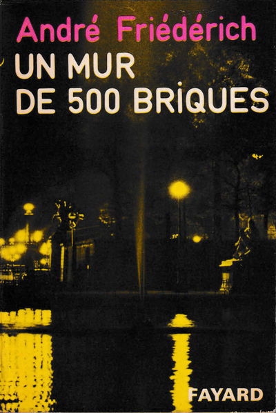 Paris: Fayard, 1971. Paperback. Very good. 249 pp. Light creases and laminate peeling to the spine, ...