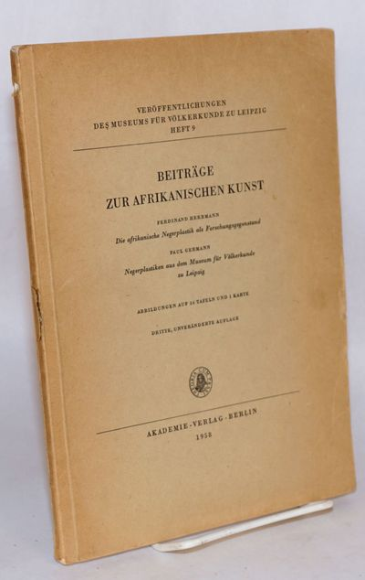 Berlin: Akademie-Verlag, 1958. vi+59p., introduction, footnotes, bibliography, illustrated with 36 b...