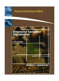 Structured Computer Organization: International Edition by  Andrew S Tanenbaum - Paperback - from World of Books Ltd and Biblio.com