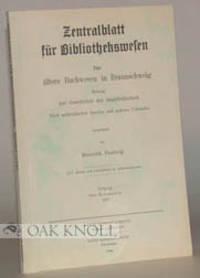 ALTERE BUCHWESEN IN BRAUNSCHWEIG, BEITRAG ZUR GESCHICHTE DER STADTBIBLIOTHEK
