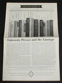 "image of Linotype Matrix - Number 25, July 1956. ""A Typographic Journal Published from Time to Time by Linotype and Machinery Limited"