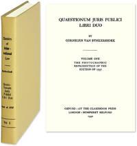 Quaestionum Juris Publici Libri Duo. Latin text. Reprint 1737 edition