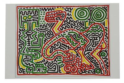 : Tony Shafrazi Gallery, 1984. Single Sheet. Near Fine. Single sheet card printed on stock measuring...