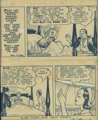 image of Original artwork for Li'l Abner comic strip, June 25, 1936, inscribed to Ed Dodd
