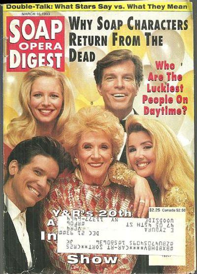 SOAP OPERA DIGEST MARCH 16, 1993, Soap Opera Digest
