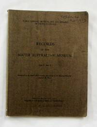 image of Records of the South Australian Museum Vol V No 1, August 1933 inc Aborigines of Princess Charlotte Bay Part I