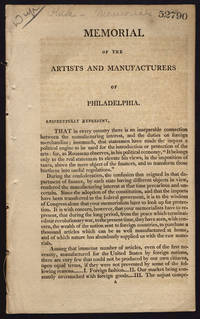 [drop title] Memorial of the artists and manufacturers of Philadelphia.