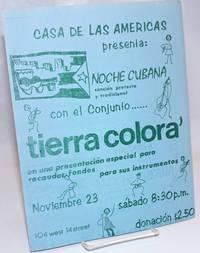 [Flyer for a night of Cuban music presented by Casa de Las Americas]