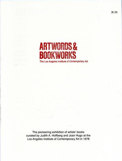 Artwords & Bookworks: an exhibition...