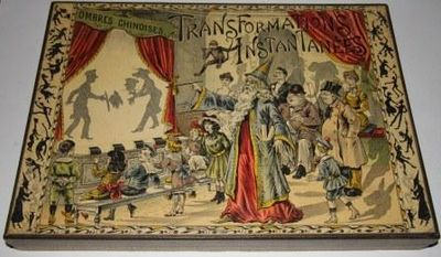 N.d., circa 1880. Ombres Chinois is a type of toy theater in which silhouette or shadows of figures ...