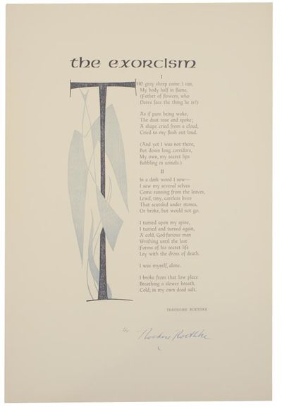 San Francisco, CA: Poems in Folio, 1957. First edition. Broadside printed in two color that measures...