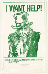 Poster: I Want Help! Volunteer for Impeachment Work by  Peg (artist) [NEW LEFT] AVERILL - n.d. but 1973] - from Lorne Bair Rare Books and Biblio.com