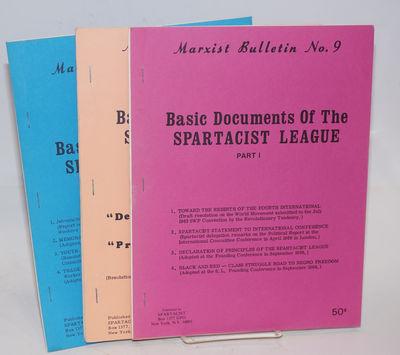 New York: Spartacist League, n.d.. Three staplebound volumes, 8.5x11 inches, pen marginalia; decent ...