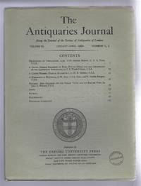 The Antiquaries Journal, Being the Journal of The Society of Antiquaries of London, Volume XL, 1960, Numbers 1, 2. January - April 1960