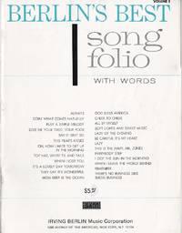 image of Berlin's Best Song Folio Volume 1