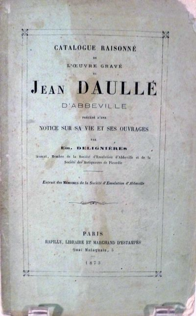 Paris: Rapilly, Libraire et Marchand D'Estampes, 1873. First edition. Paperback. Orig. printed green...