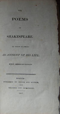 THE POEMS OF SHAKESPEARE.; To Which Is Added an Account of His Life