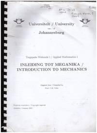 image of INTRODUCTION TO MECHANICS / INLEIDING TOTO MEGANIKA