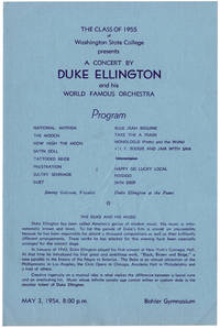 A Concert by Duke Ellington and His World Famous Orchestra. May 3, 1954.