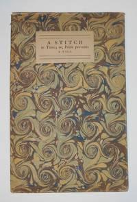 Stitch in Time; or Pride Prevents a Fall, A