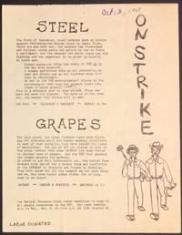 image of On strike. Steel / Grapes [handbill]