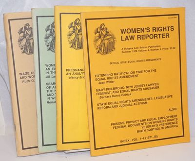 Newark, NJ: Women's Rights Law Reporter, 1979. Magazine. Four issues of the staplebound journal, app...