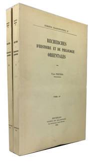 Recherches d'Histoire et de Philologie Orientales. [2 vols.]