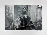 [Portrait Photograph of Robert Creeley and His Dog, Spot]