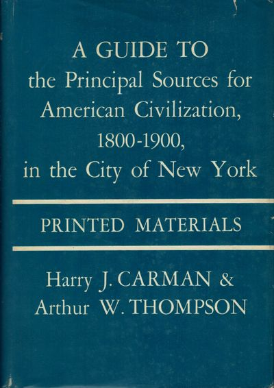 New York: Columbia Univ. Press, 1962. First edition. Hardcover. Orig. maroon cloth. Fine in very goo...