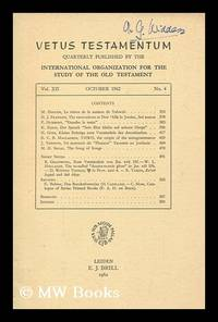 Vetus Testamentum : quarterly published by the International Organization of Old Testament...