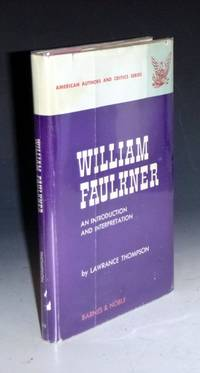 image of William Faulkner, an Introduction and Interpretation