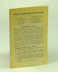Free Economy League of Canada Informational Leaflet