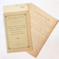 Conseil municipal de Chantilly, séance du 14 avril 1898 : Rapport présenté par M. Vallon au nom de la commission chargée d'étudier un projet de Monument en l'honneur de Monseigneur le duc d'Aumale